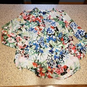 Talbots Floral Top SZ M